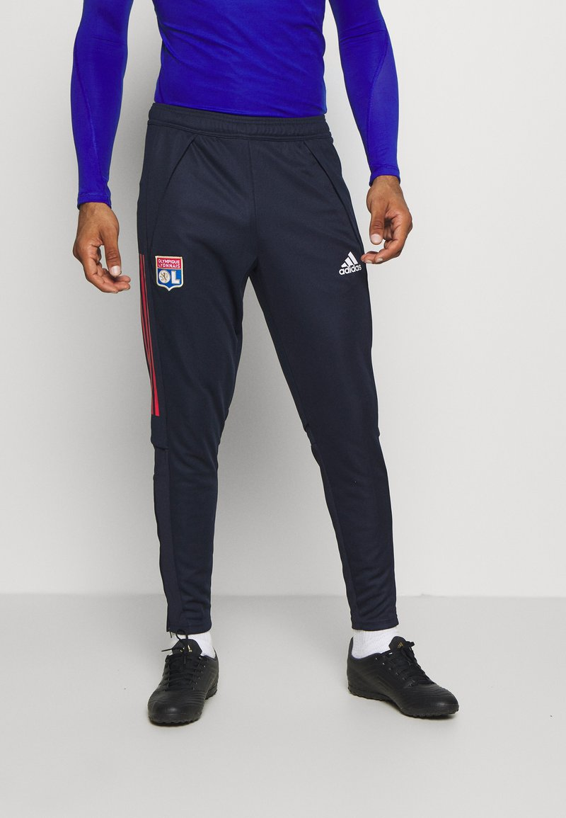 adidas Performance - OLYMPIQUE LYON AEROREADY FOOTBALL PANTS - Klubtrøjer - legend ink