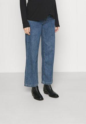 HIGH WAISTED WIDE LEG JEANS - Jeans straight leg - dark stonewash