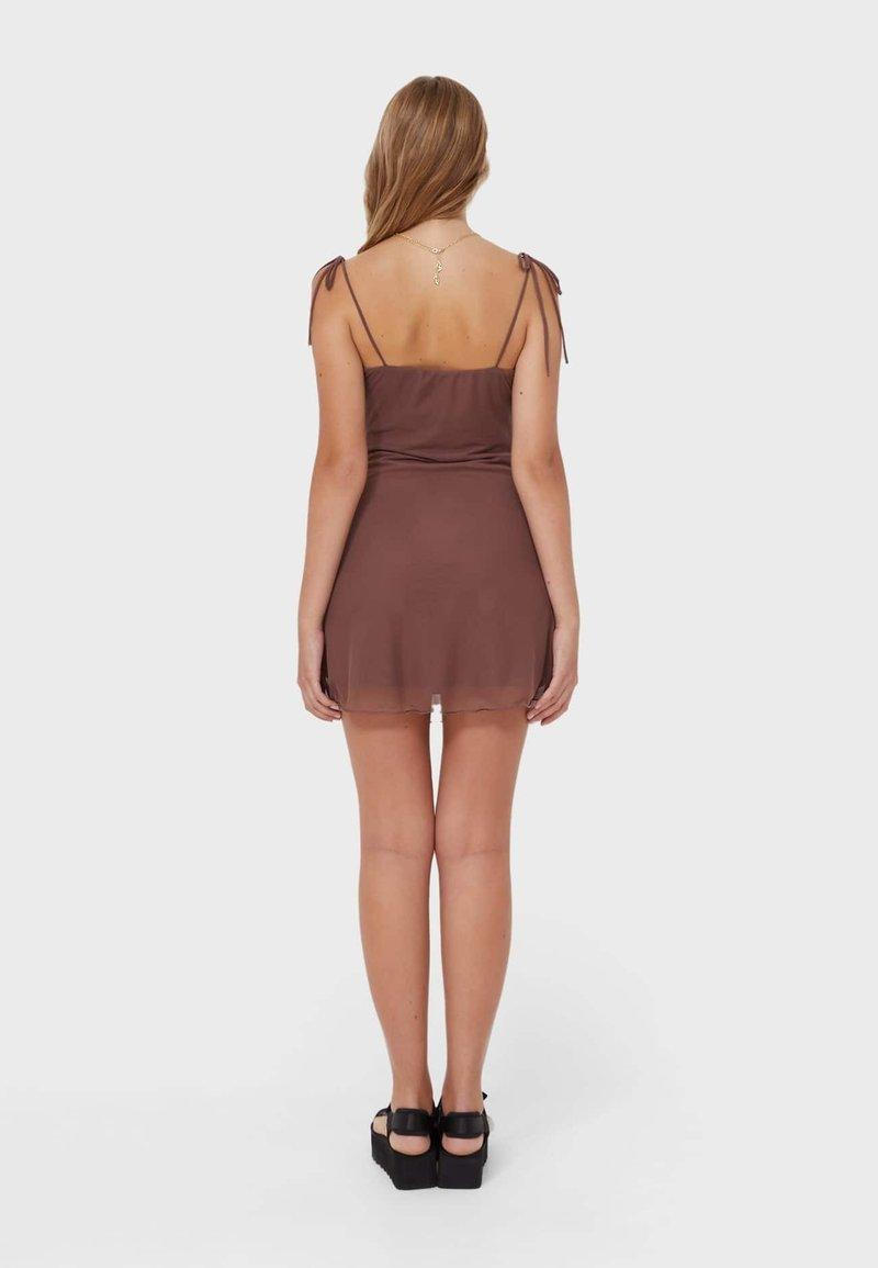 MESH IN LINGERIE OPTIK   Cocktail dress / Party dress   brown