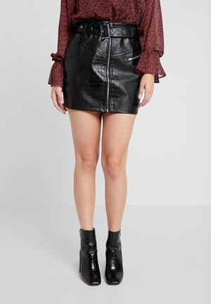 BUCKLE DETAIL SKIRT - A-line skirt - black