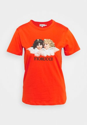 VINTAGE ANGELS - Print T-shirt - orange