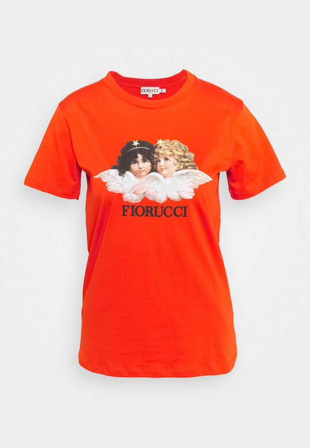 VINTAGE ANGELS - Print T-shirt - orange
