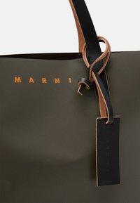 Marni - Cabas - mosstone/coffee/black - 5