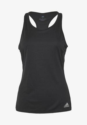 CLUB TANK - Sports shirt - black/silver/white