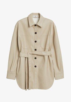 ANAIS - Leather jacket - ecru