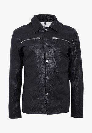 BEMALEK - Leren jas - black