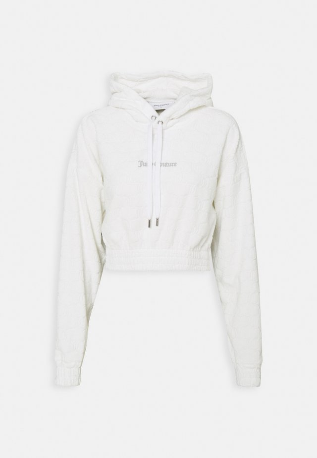 TOWELLING TEAGAN HOODIE - Sweater - white