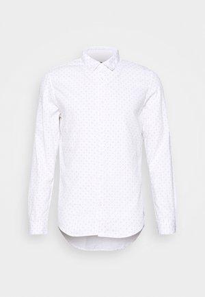 HIDDEN BUTTON DOWN - Shirt - white