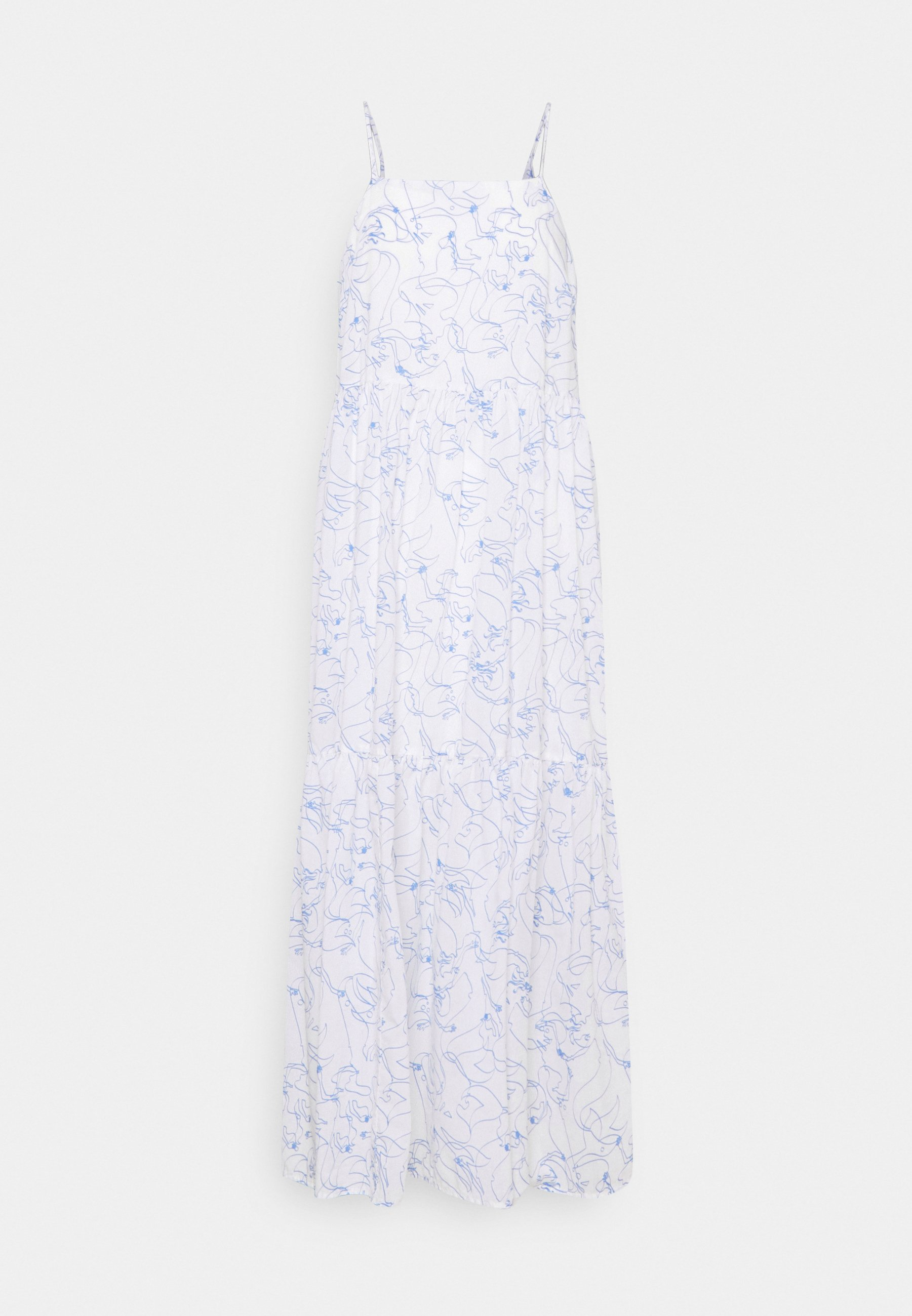 Women DRESS STRAPS TIRED - Maxi dress