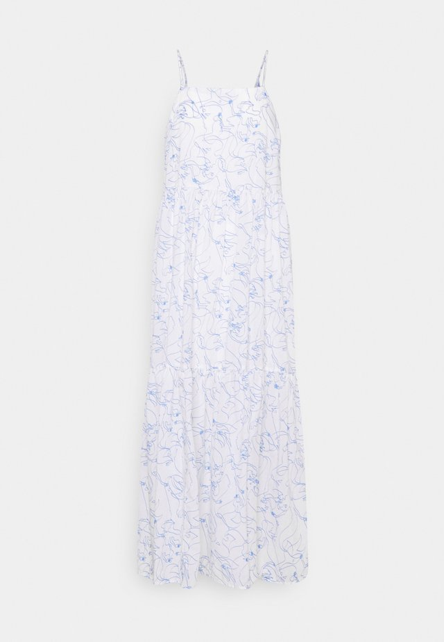 DRESS STRAPS TIRED - Maxi-jurk - multi/scandinavian white