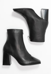 Topshop - HEIDI ZIP BOOT - High heeled ankle boots - black - 3