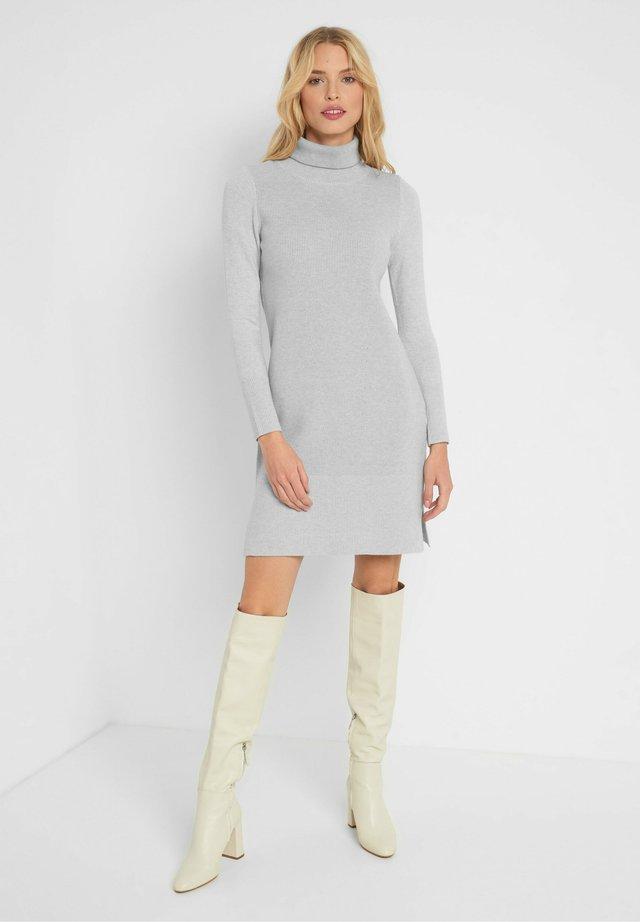 MIT ROLLKRAGEN - Jumper dress - hellgrau meliert