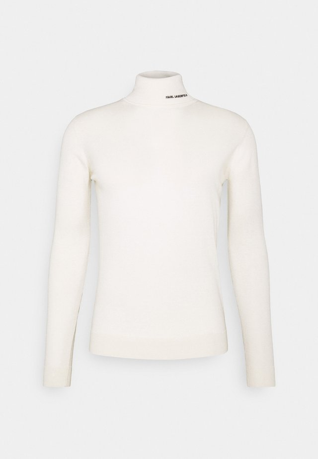 ROLLNECK - Pullover - white