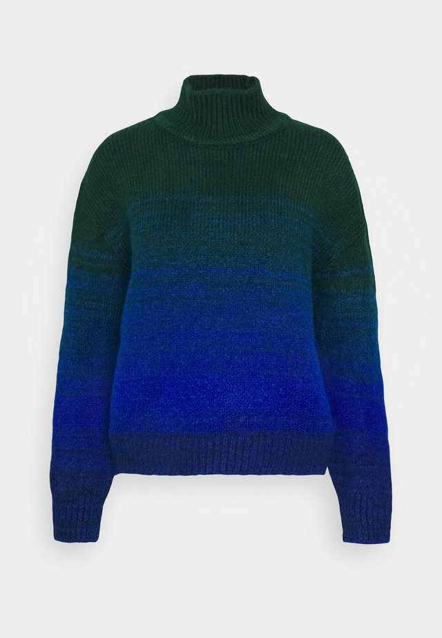 CROPPED OMBRE JUMPER - Neule - emerald green