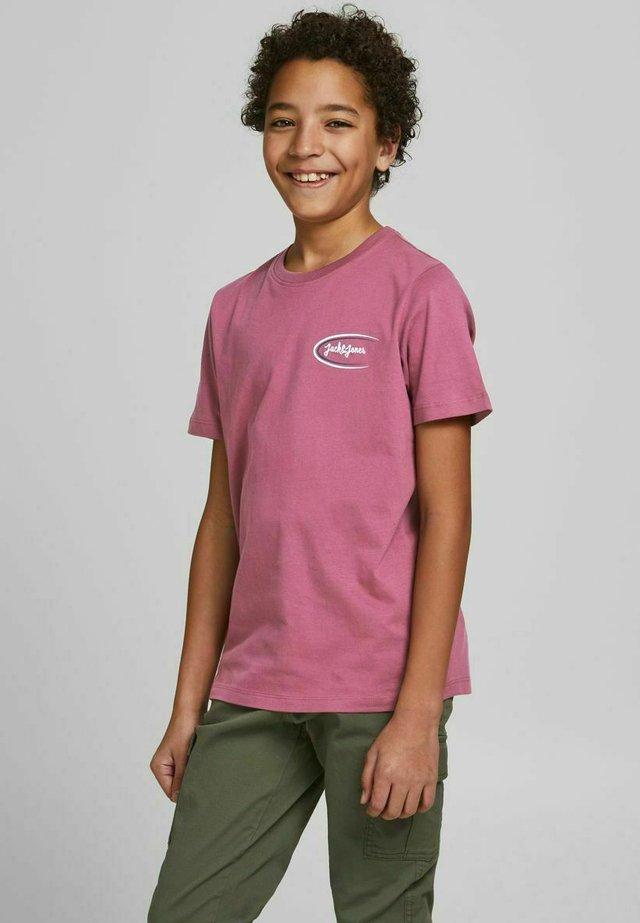 Camiseta estampada - mottled pink