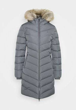 LONG FITTED PUFFER - Down coat - smoked pearl