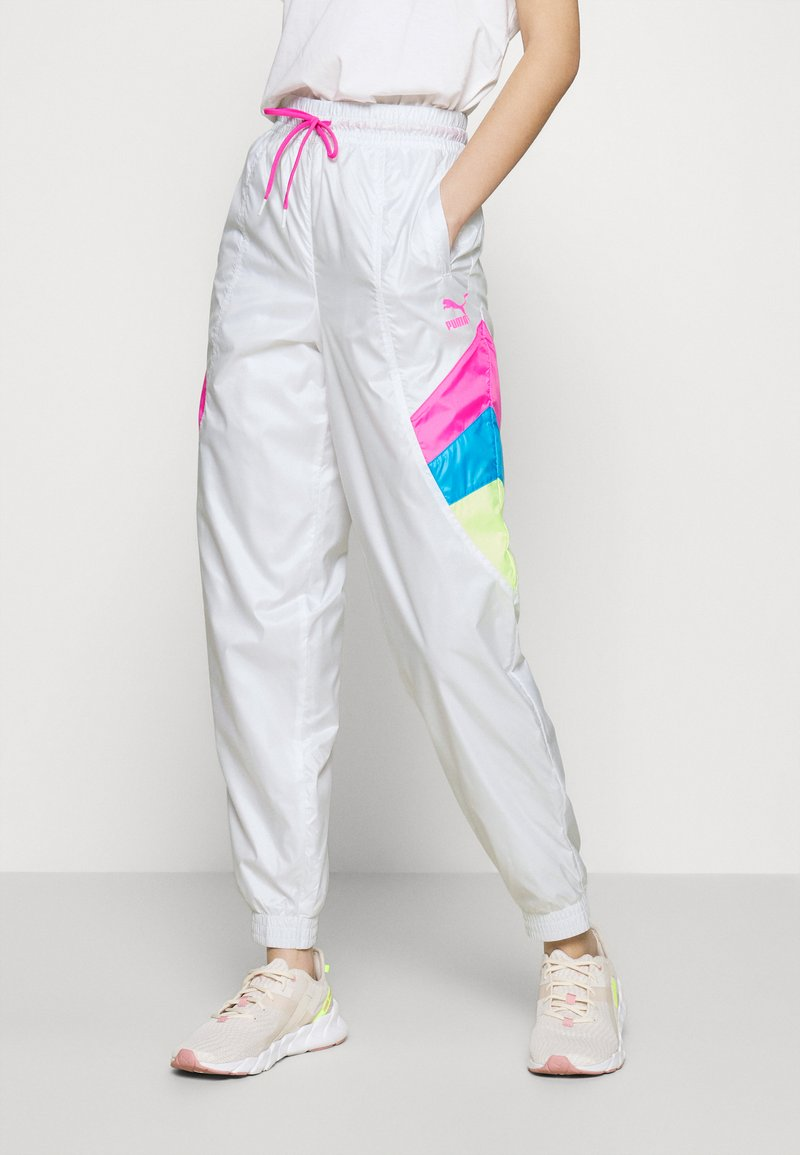 Puma - TRACK PANT - Tracksuit bottoms - white