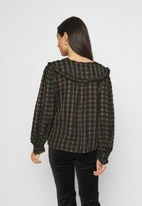 Topshop - CHECK COLLAR - Long sleeved top - khaki - 2