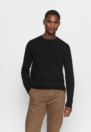 SLHBERG CREW NECK - Pullover - black