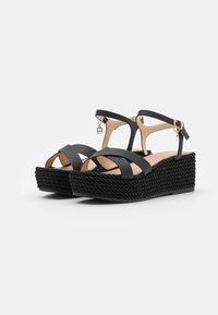AIGNER - GRAZIELLA  - Platform sandals - black - 2