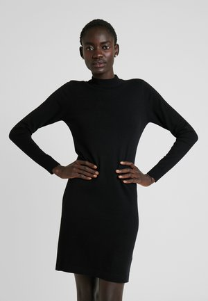 OBJTHESS DRESS - Gebreide jurk - black