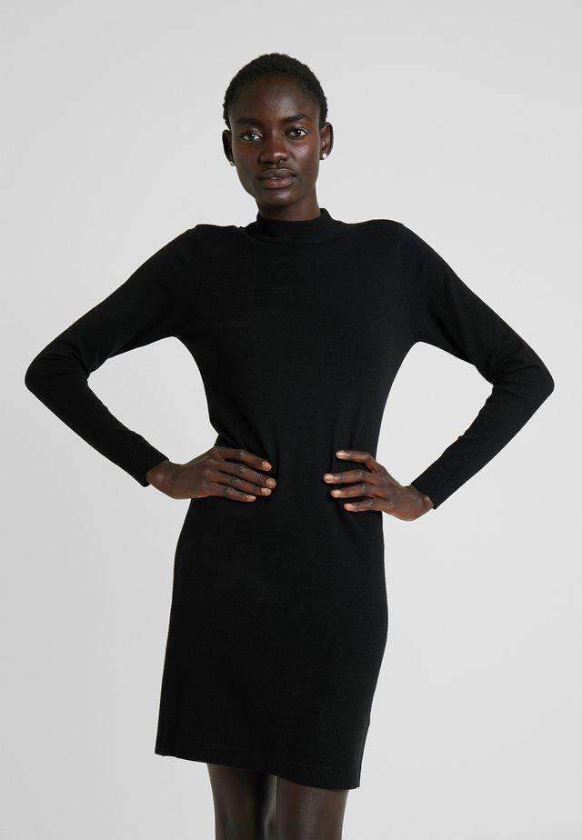 OBJTHESS DRESS - Abito in maglia - black