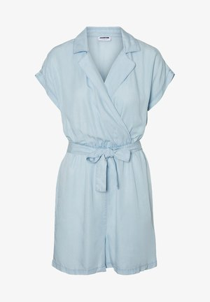 NMNATHALIE S/S ENDI BELT PLAYSUIT B - Overal - light blue