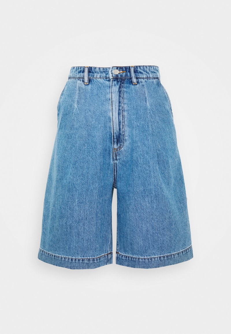 Monki - NANETTE  - Jeansshorts - blue medium dusty