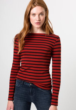 Long sleeved top - tandori red