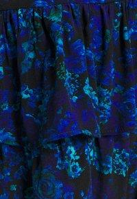 River Island - RUFFLE HEM TEA DRESS - Day dress - blue - 2