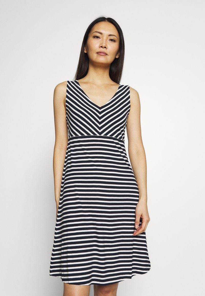 TOM TAILOR - Jersey dress - navy/stripe