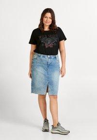 Zizzi - XANDIE - Print T-shirt - black - 1