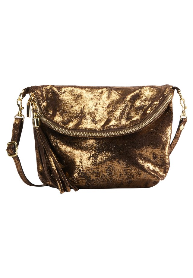 Handbag - vintage gold