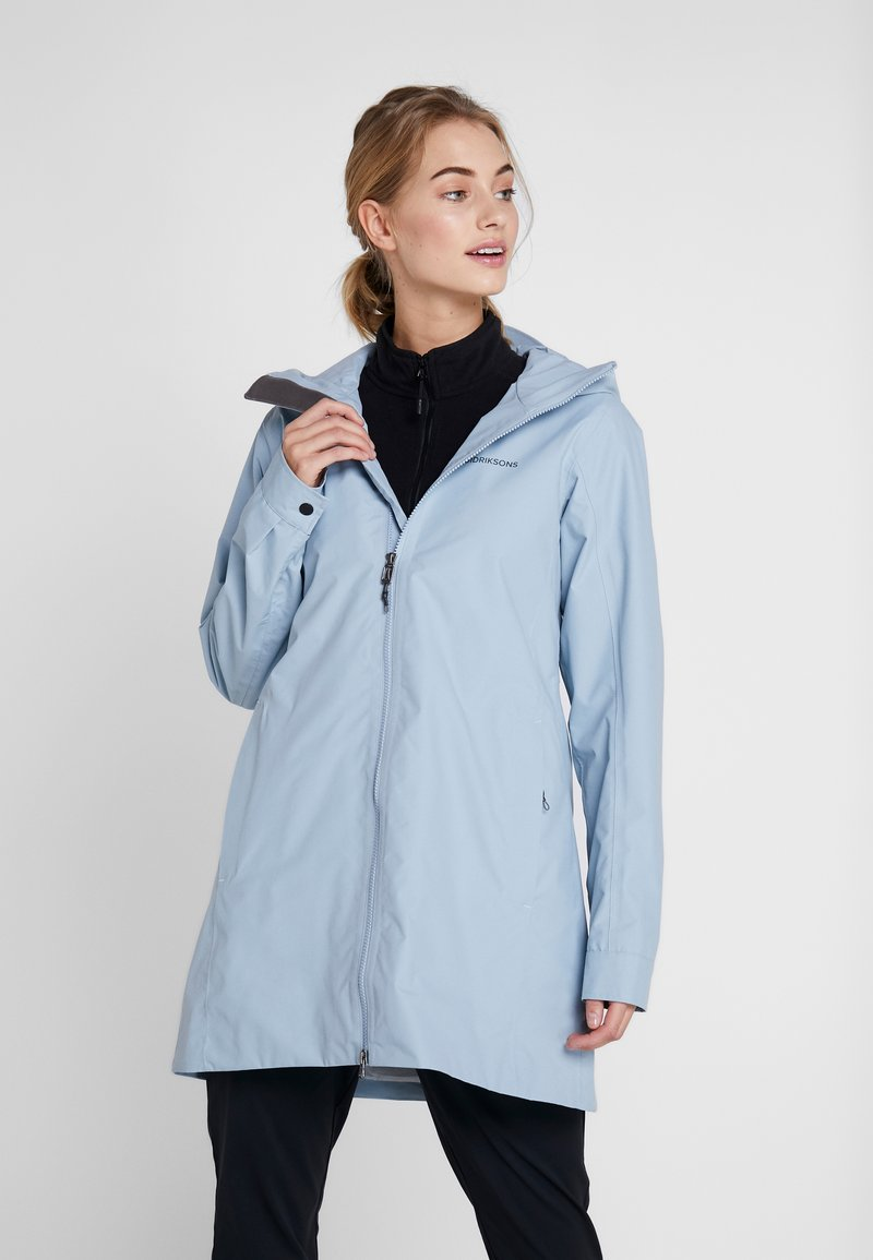 Didriksons - MIRANDA WOMEN'S PARKA - Vodotěsná bunda - cloud blue