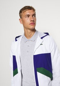Lacoste Sport - TENNIS JACKET - Trainingsjacke - white/cosmic-green - 3