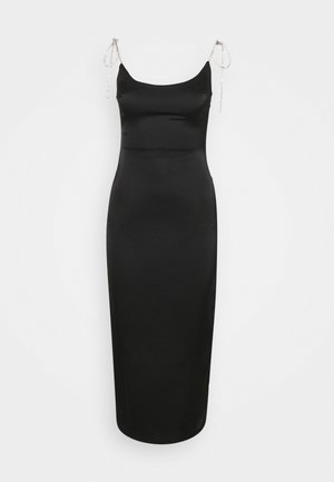 COSTELLO TIE STRAP MIDAXI DRESS - Vestido de cóctel - black