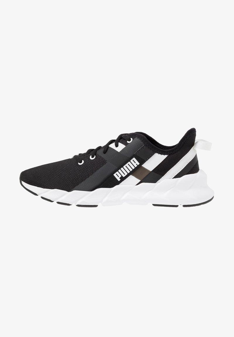 Puma - WEAVE XT - Stabilty running shoes - black/white