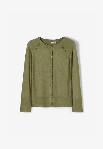 Cardigan - deep lichen green