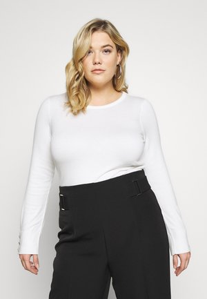 BUTTON CUFF JUMPER - Jumper - ivory
