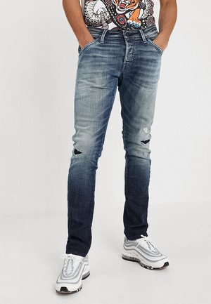 JJIGLENN JJFOX - Jeans slim fit - blue denim