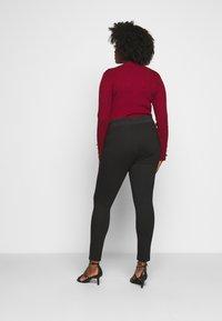 CAPSULE by Simply Be - SHAPE SCULPT SUPER STRETCH PONTE TREGGING - Trousers - black - 2