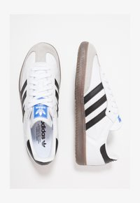adidas Originals - SAMBA - Trainers - footwear white/core black/granit - 1