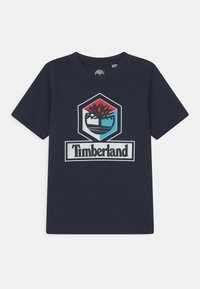 Timberland - SHORT SLEEVES - Print T-shirt - navy - 0