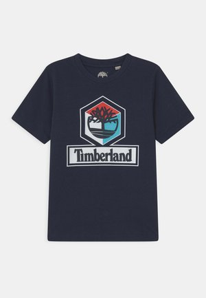 SHORT SLEEVES - Triko s potiskem - navy