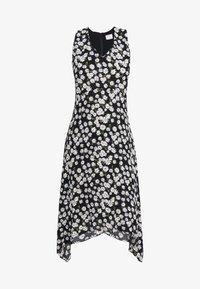 Wallis Petite - DAISY HANKY HEM DRESS - Maxi dress - black - 4
