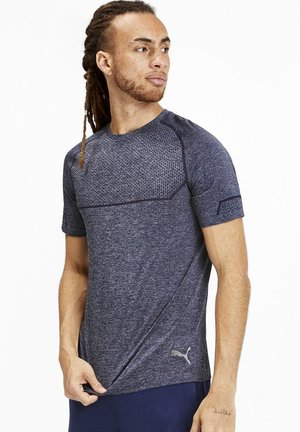 ENERGY SEAMLESS - T-shirt basic - peacoat heather