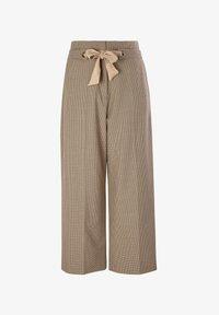 s.Oliver BLACK LABEL - Trousers - beige checks - 4