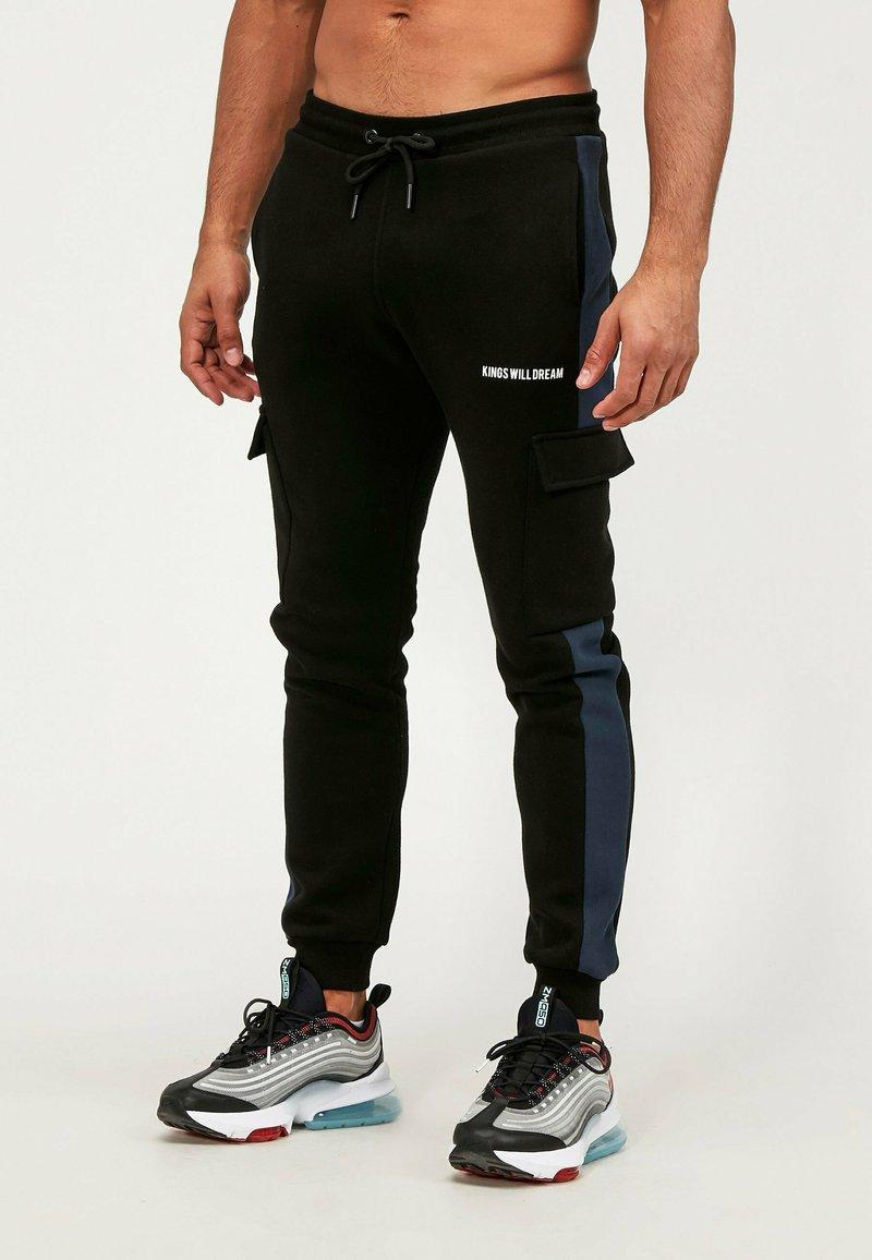 Kings Will Dream - Cargo trousers - black/navy