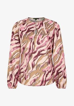 Blouse - pink zebra lines