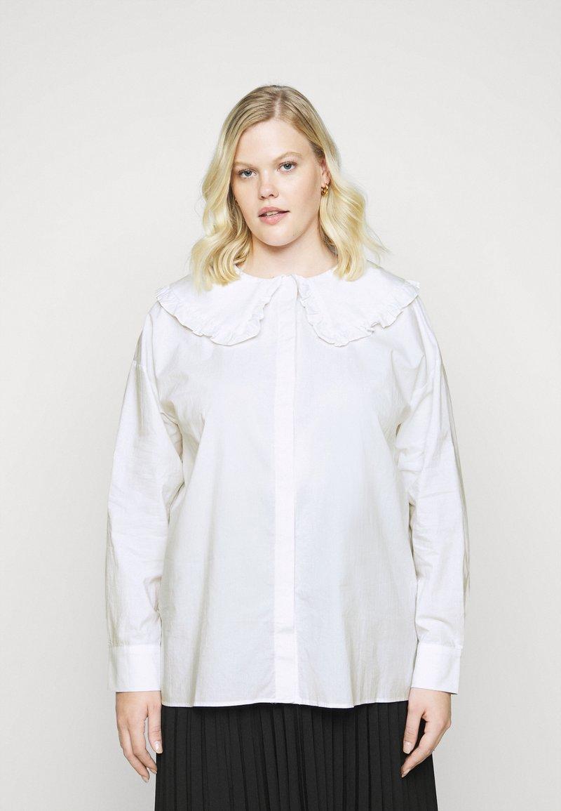 Glamorous Curve - OVERSIZE COLLAR - Blouse - white